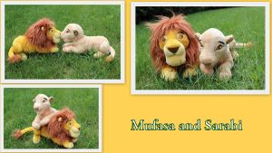 Mufasa and Sarabi beanie by Laurel-Lion