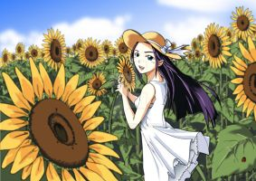 sunflower girl by Eizra
