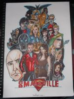 Smallville all heroes and villians artwork by samrogers