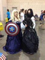 Lady Captain America + Lady Winter Soldier Cosplay by Thom-Heap