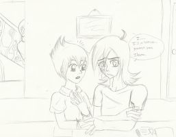 Lance and Ilana UNCOLORED by KingdomHeartsgal