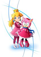 Amy and Peach by Lucky-Sonic-77-d
