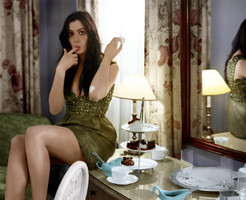 Colorizacion Anne Hathaway by Shaleen93