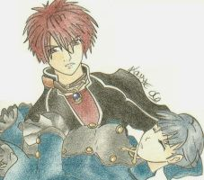 Shadow Hearts with Pencils by TheSpyWhoLuvedMe