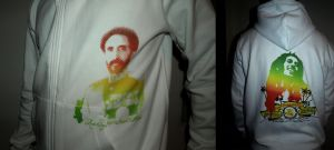 Ras Tafari + Bob Nesta Hoodie by artwarriors