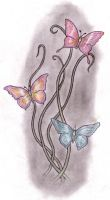 Butterflies and Vines by tattoo-parlour