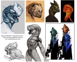 Creature sketches by Ubermonster