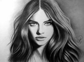 Drawing Barbara Palvin by serkanpainter