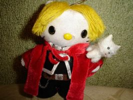 Al Elric hellokitty keychain by Rens-twin