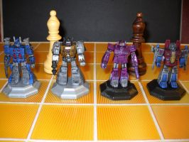 Transformers custom chess set decoy bishops by Prowlcop
