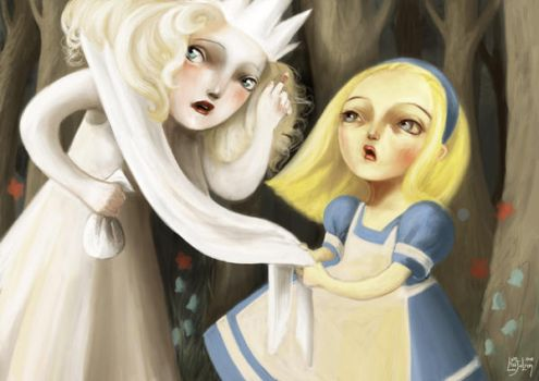 Alice and the White Queen by meluseena