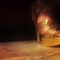 Gold shoes by heatherdrefke