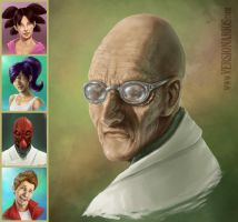 Futurama portrait by Aioras