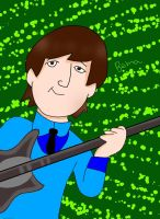 The Beatles Cartoon John Lennon by Cygnus-X-2