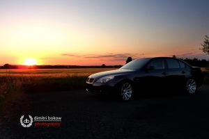 BMW sunset by DimitriBokowPhoto