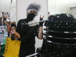 Kakashi and a Dalek by firecasterx2
