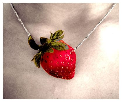 Strawberry Necklace by Angelinaaa