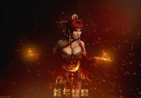 DotA 2 - Lina - Happy Chinese New Year! by MilliganVick