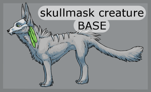 Skullmask Creature Base by Lunakia