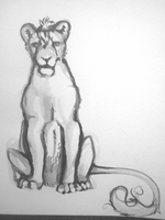 Lion Sketch #2 by ashleigheperry