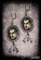 Vincent Price Bat Earrings by FrillsandMorbidity