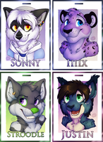 IFC badge commissions page 1 by Spaggled