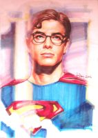 Superman portrait - markers by aaronwty