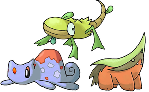 Starters by Smiley-Fakemon