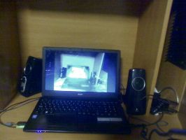 Laptop setup or something whatevar by TheDevilPyro