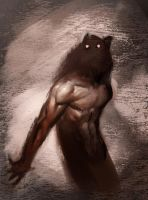 Werewolf Sketch by capprotti