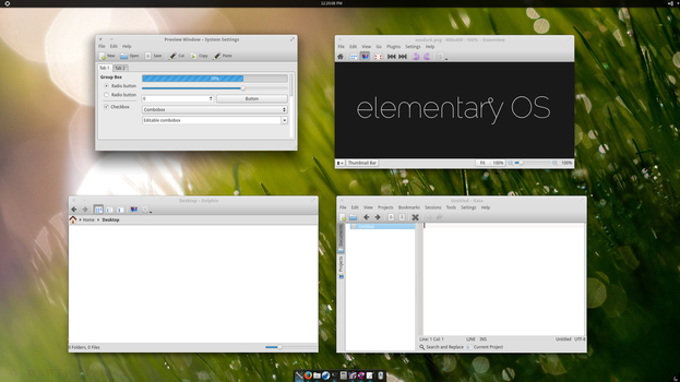 Elementary Luna Theme Pack - for KDE by garthecho