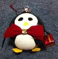 Penguin Ornament by Duchess-of-Dismal