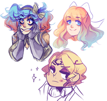 Fe Doodles by mayakins23
