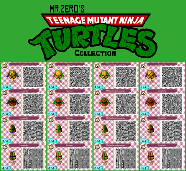 Animal Crossing: New Leaf TMNT QR Collection by misterzero