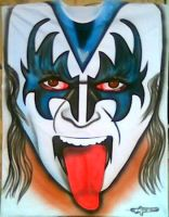 GENE SIMMONS KISS AIRBRUSHED by javiercr69