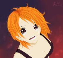 Nami in fear by Chaos-of-paradox
