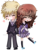 chibi couple //3 by mochixtea