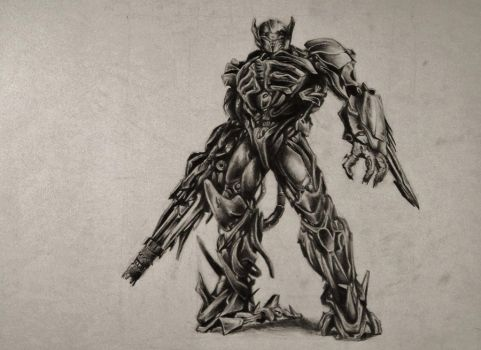 Shockwave Pencil Drawing by MTERM775