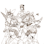 Tiger and Bunny_linework by unojune