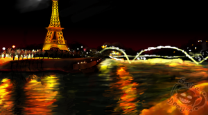 Seine River , Eiffel Tower by Saira-Dragon