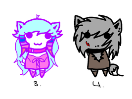 Adopedable chibis 2 by AshleytheWolff