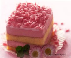 Strawberry Mousse Cake by theresahelmer