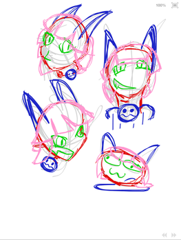 Ms. Fortune Head Sketches (Layers, not complete)  by stuPendas