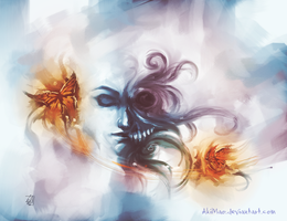 speed painting_CalaveraMariposa by AkiMao