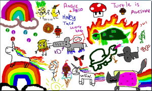 Haley and Turtles drawing by XxHayBugxX
