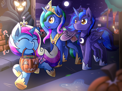 [Reward] Nightmare Night As Princesses by vavacung