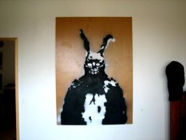 Donnie Darko Bunny Stencil by Thatguy101