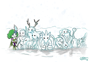 Seven Summoned Beasts by whenpigsfly8992