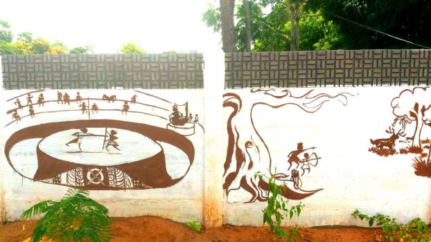WORLI wall paintings by ajaysartwork