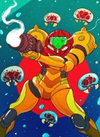 Samus Aran by cheshirecatart